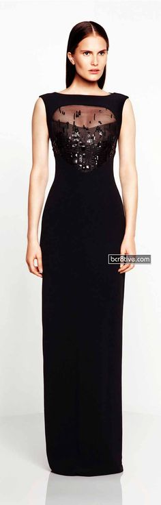 Seeing the way that Monique Lhuillier designs a Resort Collection and Ready to Wear styles is a special treat. Beautiful Evening Gowns, Long Evening Gowns, Beautiful Dresses, Glamorous Dresses, All Black Dresses, Black Gowns, Peplum Dress, Dress Up, Runway Fashion
