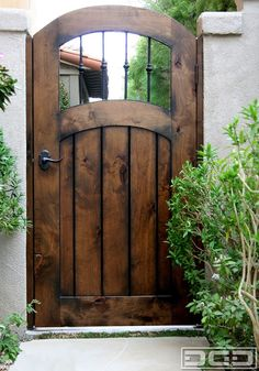 Maybe distressed blue (btw navy and regular blue) for this gate between house and fence and for back side gate to big tree/back planter area Backyard Gates, Garden Gates And Fencing, Garden Doors, Fence Gates, Driveway Gate, Side Gates, Front Gates, Entry Gates, Wooden Garden Gate