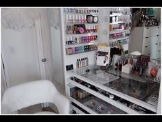 The GLAM BOUTIQUE Storage & Organizational Tour.. | AFFORDABLE IDEA'S & ... Makeup Storage Solutions, Tours, Organization, Boutique, Closet, Home Decor, Getting Organized, Organisation, Armoire