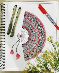 Easy Mandala Drawing, Mandala Art Lesson, Mandala Artwork, Doodle Art Drawing, Zentangle Drawings, Easy Doodle Art, Simple Mandala, Geometric Mandala, Zen Doodle