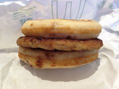 Sausage McGriddles 2012.08.21 Prepared by a staff.