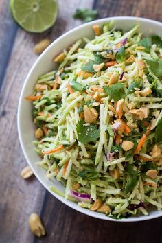 Easiest Ever 5 Minute Thai Peanut-Ginger Slaw - The Wanderlust Kitchen