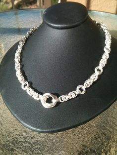 Sterling Silver Lovers Knot Necklace by chainofbeauty on Etsy