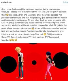 If volpina gives up on Adrien then I can be ok with this, but I swear if she gets in the way of my ship, she gon die
