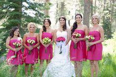these bridesmaid dresses seem pretty close to watermelon color...