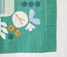 Green Botanics Quilting . Carolyn Friedlander
