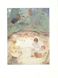 vintage 1930's peter pan print by mabel lucie attwell.