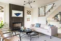 De Mattei Construction along with Lauren Nelson Design created this classic Craftsman house built for modern living in Los Gatos, California. Beautiful Interiors, Colorful Interiors, Living Room Pictures, Cozy House, Cozy Cottage, Room Colors, Living Room Designs, Living Rooms, Modern Furniture