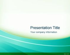 Cool green PowerPoint template background for presentations in Microsoft PowerPoint