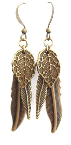 LiLy Bay — Antique copper Autumn Earrings