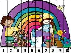 Freebie counting puzzle; an easy 1=10 review/practice station or option to do when finished early.