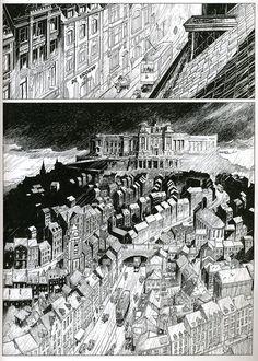 Les Cités Obscures_Brüsel_Schuiten François, Peeters Benoît