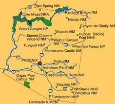 Map Of Arizona National Monuments Kameroperafestival