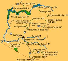 USParkinfo.com - Map Search for Arizona National Monument and National Park Information