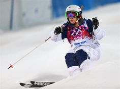 DAY 2:  Hannah Kearney of the United States competes in the Ladies' Moguls Final