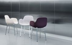 The award-winning Form chair Plastic Molds, Copenhagen, Showroom, Bar Stools, Armchair, Upholstery, Chrome, Table, Furniture