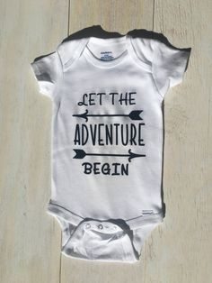 Let The Adventure Begin Onesie by ChristlesCreations on Etsy