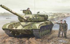 Soviet T-64 advancing, Soviet-Afghan War