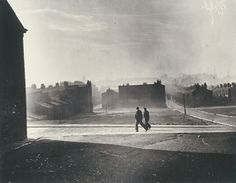 Two figures walk by cleared blitz site Liverpool 21 November 1949 White Daily Herald Archive National Media Museum Collection / SSPL National Photography, Urban Photography, Vintage Photography, Street Photography, Modern History, British History, London Bombings, Tate Britain, Liverpool Street