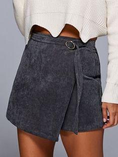 A Line Corduroy Skirt - GRAY M women beauty and make up Fashion Killa, Look Fashion, Fashion Outfits, Womens Fashion, Fashion Site, Fashion Online, Trendy Fashion, Cheap Fashion, School Looks