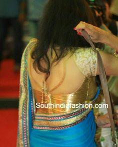 gold designer blouse