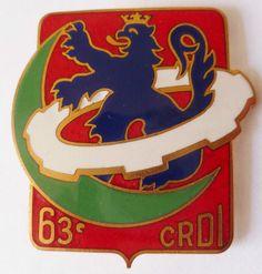 Insigne Matériel 63° CRDI COMPAGNIE REPARATION DIVISION INFANTERIE AFN ALGERIE