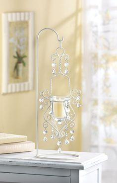 Vintage Crystal Drop Candleholder