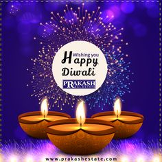 #HappyDiwali #PrakashEstate  May the Divine Light of Diwali Spread into your Life Peace, Prosperity, Happiness and Good Health.