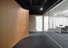 Spicebox Office in Japan by Nendo with walls peeled back to reveal boxy meeting rooms.