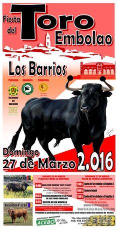 CARTEL TORO EMBOLAO 2016 LOS BARRIOS