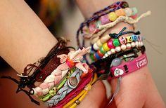 @Raisa Finch  reminded me of u :) so many CUTE bracelets!