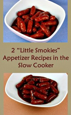 2 Ways to make Little Smokies in the CrockPot Slow Cooker...12oz chili sauce,m18 oz grape jelly, 1-2#s little smokey sausages...low for 4 hours.