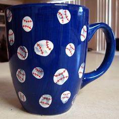 Fingerprint baseball mug gift. Could even change it up for a football mug.