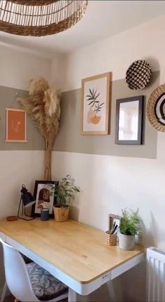 Diy Crafts For Home Decor, Diy Room Decor, Home Decor Bedroom, Living Room Decor, Home Room Design, House Design, Bedroom Wall Designs, Home Office Decor, Apartment Living