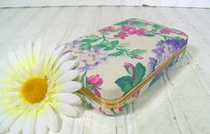 Retro Pastel Floral Jewelry Case  Vintage Pink by DivineOrders, $13.00