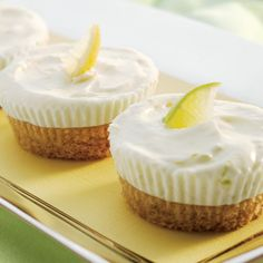 Mini Lemon Lime Tartlets - love desserts in miniature. Perfect for a summer party.