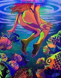 Fantasy Kunst, Dark Fantasy Art, Dope Kunst, Bright Colors Art, Psychedelic Drawings, Trippy Drawings, The Dark Side, Dorm Art, Urbane Kunst