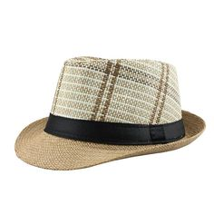 29785f62c39  FLB  Hot 2018 Fashion Summer Beach Hat Large Brim Jazz Sun Hat Casual  Unisex Panama Hat Straw Women Men Cap With Black F303