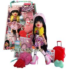 MGA Year 2015 Bratz Study Abroad Series 10 Inch Doll Set - KUMI to France with 2 Outfits, Suitcase, Purse, Charm, Hairbrush and Bracelet For You