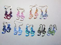 Tatting Patterns For Beginners Large Bunch Of Earrings Made From Sherry Pence S Treble Clef Pattern