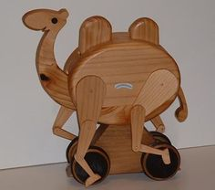 Wooden camel toy