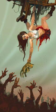 Digital Illustrations by Jhoneil Horror Art, Horror Movies, Game Design, Zombie Art, Zombie Eyes, Apocalypse Art, Heavy Metal Art, Comic Art Girls, Animation