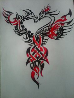 Dragon and Phoenix tattoo!! I want it!!!