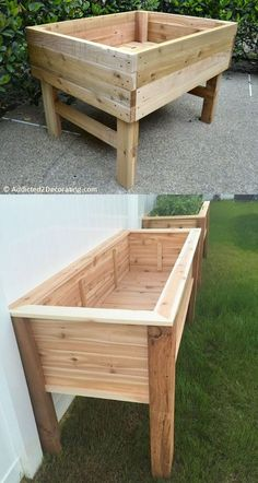 garden boxes raised 28 Best DIY raised bed gardens: easy tutorials, ideas designs to build raised beds or vegetable flower garden box planters with inexpensive materials! - A Piece of Rainbow backyard, landscaping, gardening tips, homesteading Raised Garden Bed Plans, Building Raised Garden Beds, Elevated Garden Beds, Raised Bed Diy, Raised Garden Bed Design, Garden Box Plans, Cheap Raised Garden Beds, Raised Flower Beds, Diy Bett