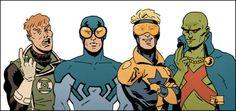 Justice League International by Evan Doc Shaner Comic Book Artists, Comic Artist, Comic Books Art, Dc Comics Heroes, Dc Comics Art, Cultura Nerd, Drawing Superheroes, Arte Nerd, John Romita Jr