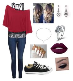 """""""Untitled #62"""" by suzannefri on Polyvore featuring Topshop, Converse and Lime Crime"""