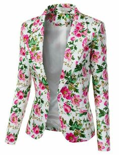 So sweet for summer. Jtomson - Freedom of Fashion - Womens Trendy Floral Print Blazer Jacket Floral Blazer, Floral Jacket, Blazers For Women, Jackets For Women, Shop Jackets, Elegantes Outfit, Oversized Dress, Printed Blazer, Clothing Items
