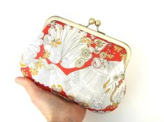 Sea shells clutch purse  Liberty print by peppermintdesigns, $45.00