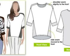 Ivy Knit Top by StyleArc. In PDF format for download from Etsy.