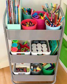 How to setup a Classroom or Art Room Organization Kids Craft Storage, Boy Coloring, Art Cart, Ideas Para Organizar, Playroom Organization, Pantry Organization, Toy Rooms, Home Learning, Organizer